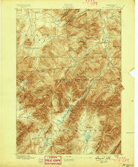 Mt. Marcy New York Historical topographic map, 1:62500 scale, 15 X 15 Minute, Year 1895