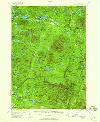 Newcomb New York Historical topographic map, 1:62500 scale, 15 X 15 Minute, Year 1954