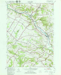 Newport New York Historical topographic map, 1:24000 scale, 7.5 X 7.5 Minute, Year 1943