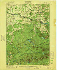 Nicholville New York Historical topographic map, 1:62500 scale, 15 X 15 Minute, Year 1921