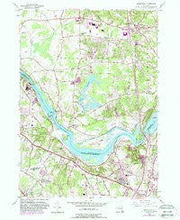 Niskayuna New York Historical topographic map, 1:24000 scale, 7.5 X 7.5 Minute, Year 1954