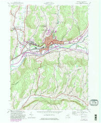 Oneonta New York Historical topographic map, 1:24000 scale, 7.5 X 7.5 Minute, Year 1943