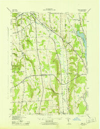 Oran New York Historical topographic map, 1:31680 scale, 7.5 X 7.5 Minute, Year 1943