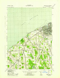 Oswego West New York Historical topographic map, 1:31680 scale, 7.5 X 7.5 Minute, Year 1943