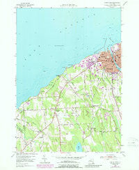 Oswego West New York Historical topographic map, 1:24000 scale, 7.5 X 7.5 Minute, Year 1954