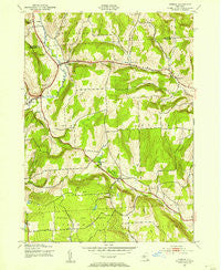 Otselic New York Historical topographic map, 1:24000 scale, 7.5 X 7.5 Minute, Year 1943