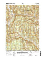 Otselic New York Current topographic map, 1:24000 scale, 7.5 X 7.5 Minute, Year 2016 from New York Map Store
