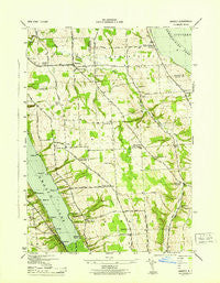 Owasco New York Historical topographic map, 1:31680 scale, 7.5 X 7.5 Minute, Year 1943