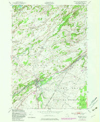 Philadelphia New York Historical topographic map, 1:24000 scale, 7.5 X 7.5 Minute, Year 1949