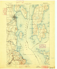 Plattsburg New York Historical topographic map, 1:62500 scale, 15 X 15 Minute, Year 1894