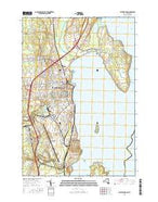 Plattsburgh New York Current topographic map, 1:24000 scale, 7.5 X 7.5 Minute, Year 2016 from New York Map Store