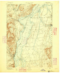 Port Henry Vermont Historical topographic map, 1:62500 scale, 15 X 15 Minute, Year 1894