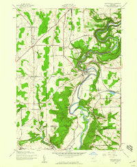 Portageville New York Historical topographic map, 1:24000 scale, 7.5 X 7.5 Minute, Year 1943