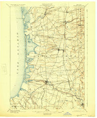 Pulaski New York Historical topographic map, 1:62500 scale, 15 X 15 Minute, Year 1895
