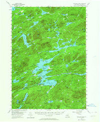 Raquette Lake New York Historical topographic map, 1:62500 scale, 15 X 15 Minute, Year 1954