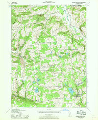 Rensselaerville New York Historical topographic map, 1:24000 scale, 7.5 X 7.5 Minute, Year 1946