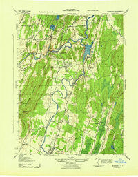 Rosendale New York Historical topographic map, 1:31680 scale, 7.5 X 7.5 Minute, Year 1943