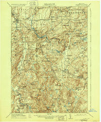 Russell New York Historical topographic map, 1:62500 scale, 15 X 15 Minute, Year 1918