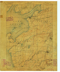 Sacketts Harbor New York Historical topographic map, 1:62500 scale, 15 X 15 Minute, Year 1895