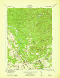 Salisbury New York Historical topographic map, 1:31680 scale, 7.5 X 7.5 Minute, Year 1946
