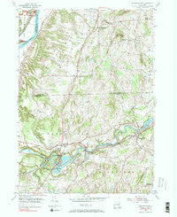 Schaghticoke New York Historical topographic map, 1:24000 scale, 7.5 X 7.5 Minute, Year 1954