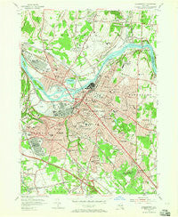 Schenectady New York Historical topographic map, 1:24000 scale, 7.5 X 7.5 Minute, Year 1954