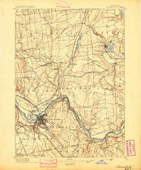Schenectady New York Historical topographic map, 1:62500 scale, 15 X 15 Minute, Year 1895