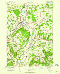 Schoharie New York Historical topographic map, 1:24000 scale, 7.5 X 7.5 Minute, Year 1943