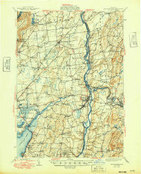 Schuylerville New York Historical topographic map, 1:62500 scale, 15 X 15 Minute, Year 1949