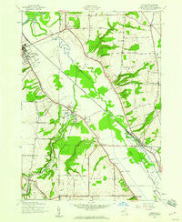 Sonyea New York Historical topographic map, 1:24000 scale, 7.5 X 7.5 Minute, Year 1943