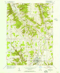 Springville New York Historical topographic map, 1:24000 scale, 7.5 X 7.5 Minute, Year 1954