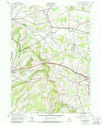 Sprout Brook New York Historical topographic map, 1:24000 scale, 7.5 X 7.5 Minute, Year 1943