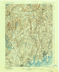 Stamford Connecticut Historical topographic map, 1:62500 scale, 15 X 15 Minute, Year 1899