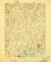 Stamford Connecticut Historical topographic map, 1:62500 scale, 15 X 15 Minute, Year 1893