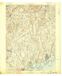 Stamford Connecticut Historical topographic map, 1:62500 scale, 15 X 15 Minute, Year 1892