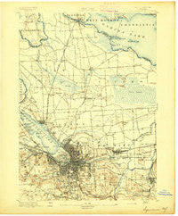 Syracuse New York Historical topographic map, 1:62500 scale, 15 X 15 Minute, Year 1895