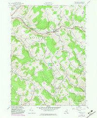 Treadwell New York Historical topographic map, 1:24000 scale, 7.5 X 7.5 Minute, Year 1943