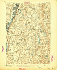 Troy New York Historical topographic map, 1:62500 scale, 15 X 15 Minute, Year 1895