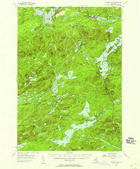 Tupper Lake New York Historical topographic map, 1:62500 scale, 15 X 15 Minute, Year 1954