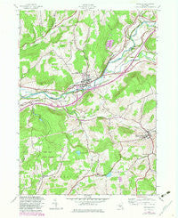 Unadilla New York Historical topographic map, 1:24000 scale, 7.5 X 7.5 Minute, Year 1943