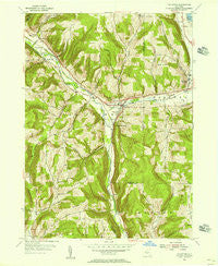 Van Etten New York Historical topographic map, 1:24000 scale, 7.5 X 7.5 Minute, Year 1954
