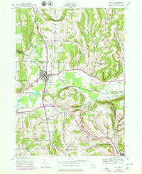 Wayland New York Historical topographic map, 1:24000 scale, 7.5 X 7.5 Minute, Year 1943