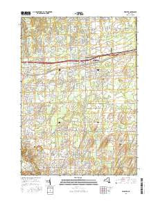 Webster New York Current topographic map, 1:24000 scale, 7.5 X 7.5 Minute, Year 2016