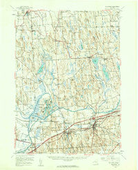 Weedsport New York Historical topographic map, 1:62500 scale, 15 X 15 Minute, Year 1954