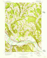 Wellsburg New York Historical topographic map, 1:24000 scale, 7.5 X 7.5 Minute, Year 1954