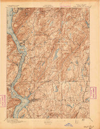 West Point New York Historical topographic map, 1:62500 scale, 15 X 15 Minute, Year 1894