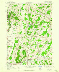 West Winfield New York Historical topographic map, 1:24000 scale, 7.5 X 7.5 Minute, Year 1943