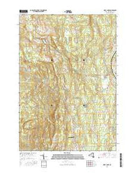 West Chazy New York Current topographic map, 1:24000 scale, 7.5 X 7.5 Minute, Year 2016