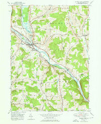 Whitney Point New York Historical topographic map, 1:24000 scale, 7.5 X 7.5 Minute, Year 1949