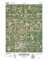 Ada Ohio Historical topographic map, 1:24000 scale, 7.5 X 7.5 Minute, Year 2010